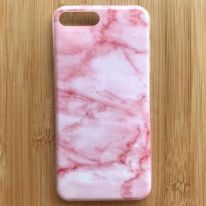 NEW Iphone 7/8/7+/8+ Pink Stone Marble Case
